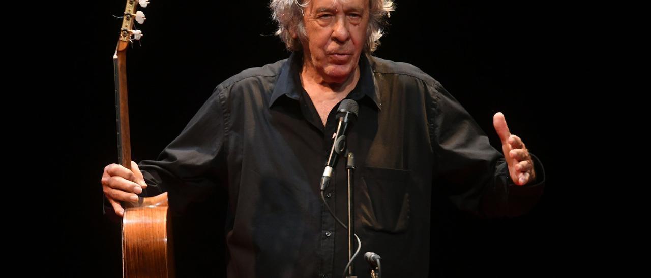El cantante Paco Ibáñez.
