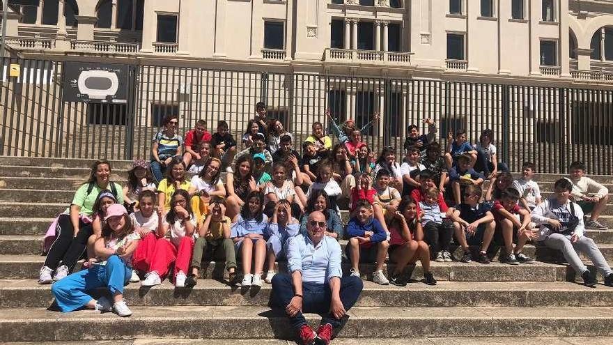 Los alumnos de sexto del Pérez Viondi, en Barcelona
