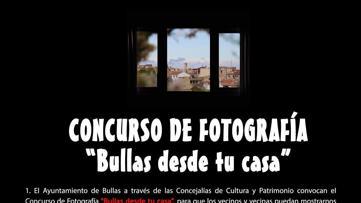 Cultura y Patrimonio convocan el Concurso de Fotografía 'Bullas desde tu casa'
