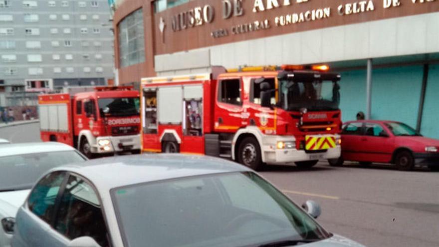 Alerta en Balaídos por un conato de incendio en la tienda del Celta