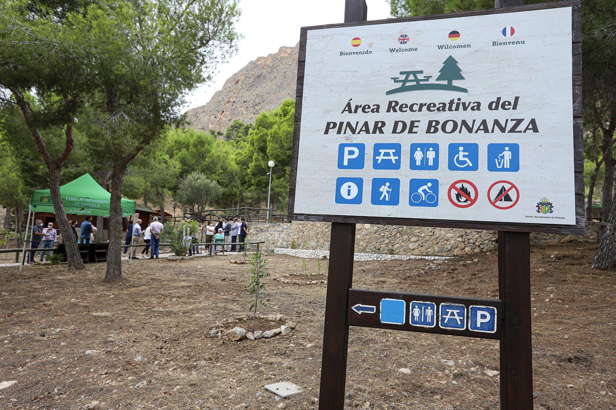 Rehabilitan el área recreativa de San Cristóbal en Pinar de Bonanza (Orihuela)