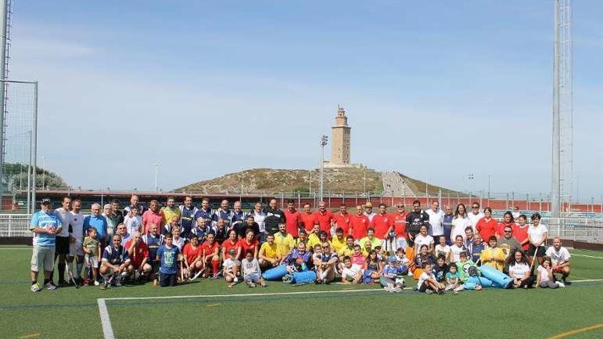 Veteranos de cuatro equipos se juntaron en A Torre