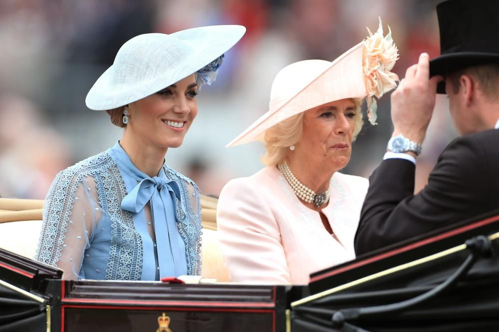18 June 2019, England, Ascot: Catherine (L), ...