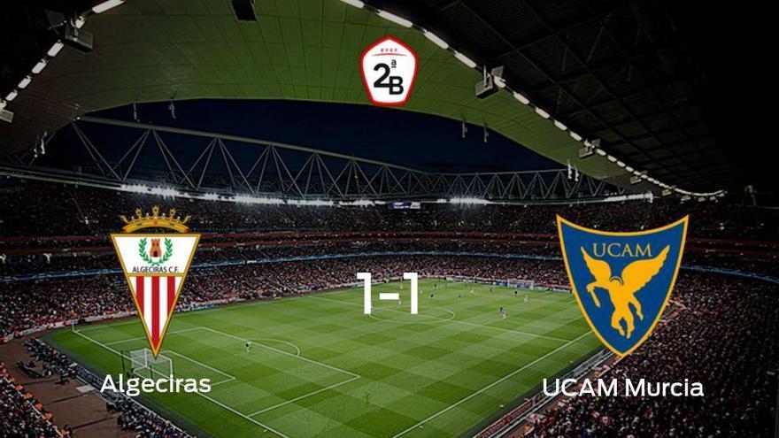 El Algeciras y el UCAM Murcia empatan 1-1 y se reparten los puntos