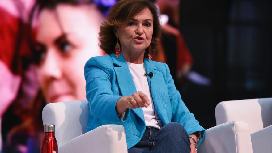 """La ex vicepresidenta del Gobierno, Carmen Calvo, sobre la polémica de los toros: """"No tiene ningún sentido que estos espectáculos que son legales se tengan que suprimir de esta manera"""""""