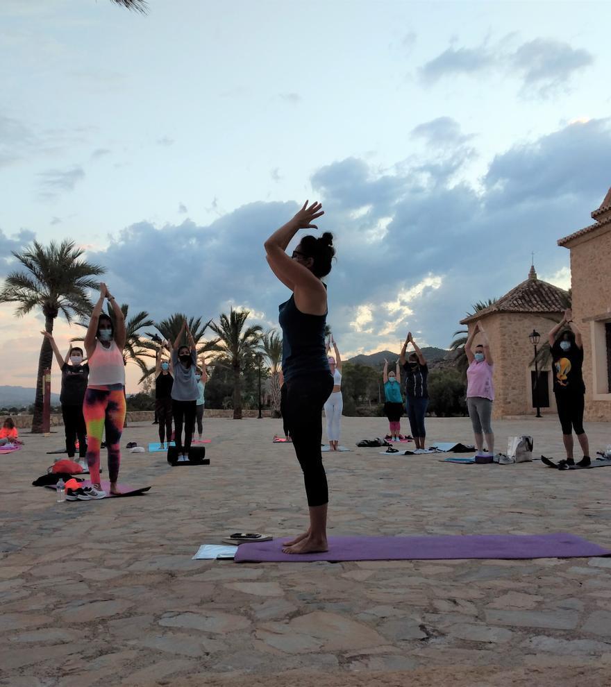 Yoga en el cielo de Lorca