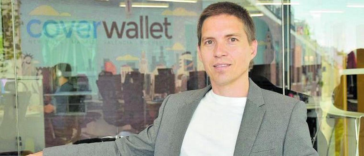 Berenguer, en la sede de Cover Wallet
