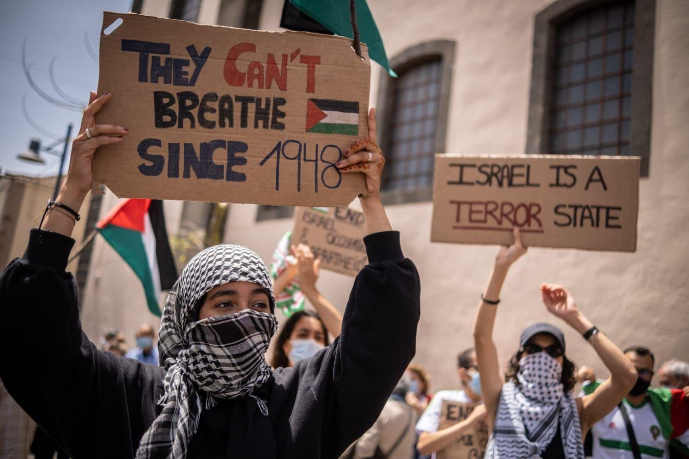 Concentración en Tenerife para pedir el fin de la violencia en Gaza (16/05/21)