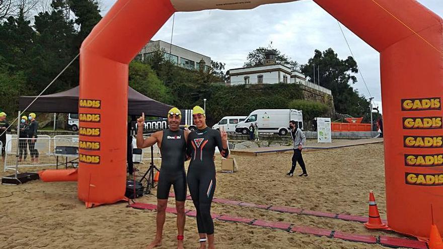 Del Río y De Valdés ganan en la playa de Oza el Winnerman
