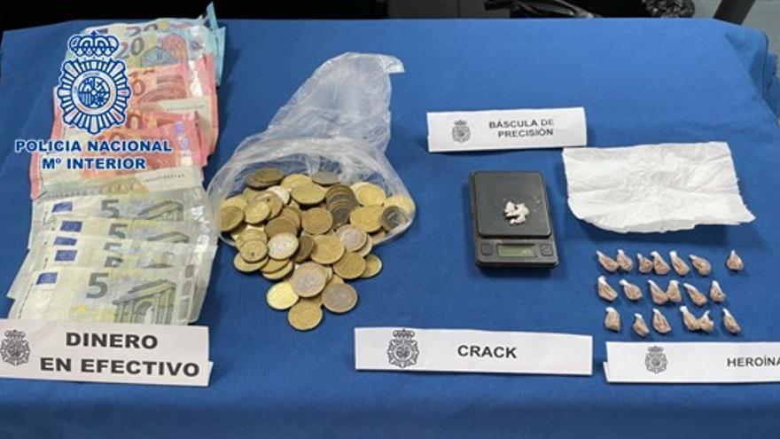 Dos detenidos en el barrio del Risco de San Nicolás por tráfico de drogas