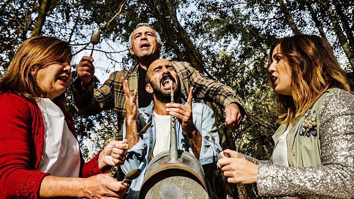 """Integrantes de Mayalde, grupo de folclore que actuará el domingo el """"Sanvi Fest"""".   Cedida"""