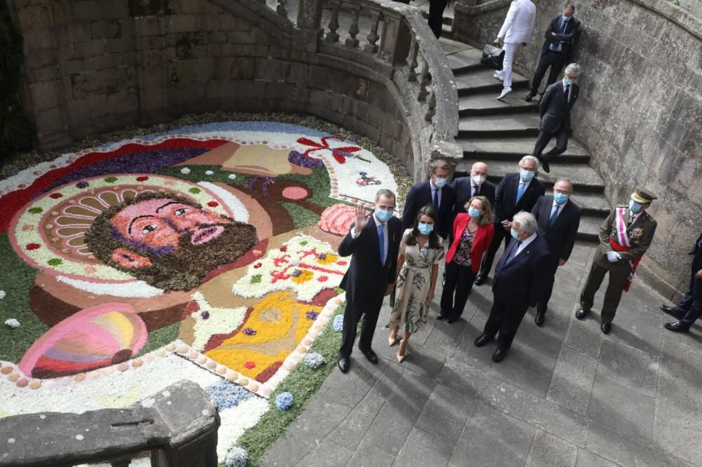 Los Reyes presiden el Día de Galicia, en Santiago