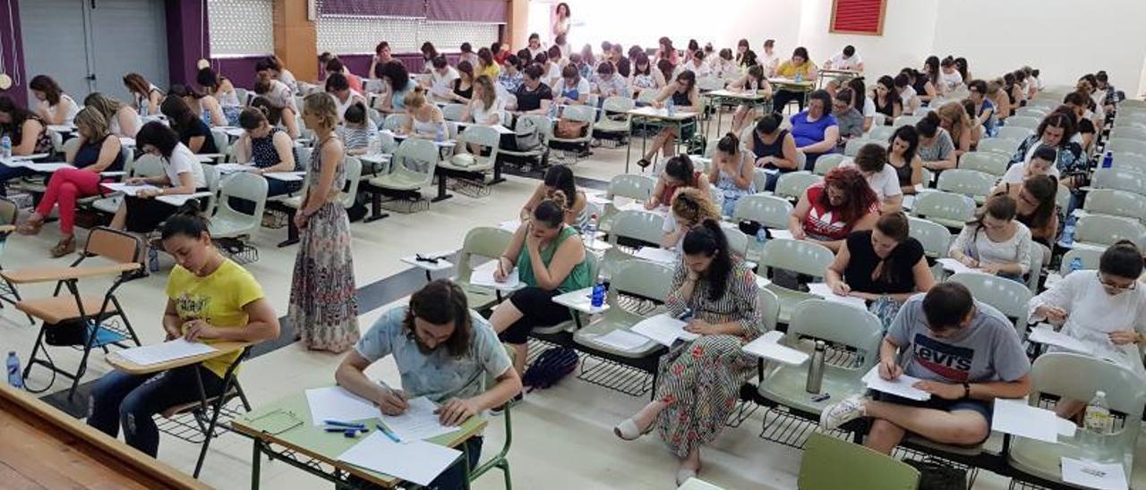 Imagen de archivo de las oposiciones a docentes.
