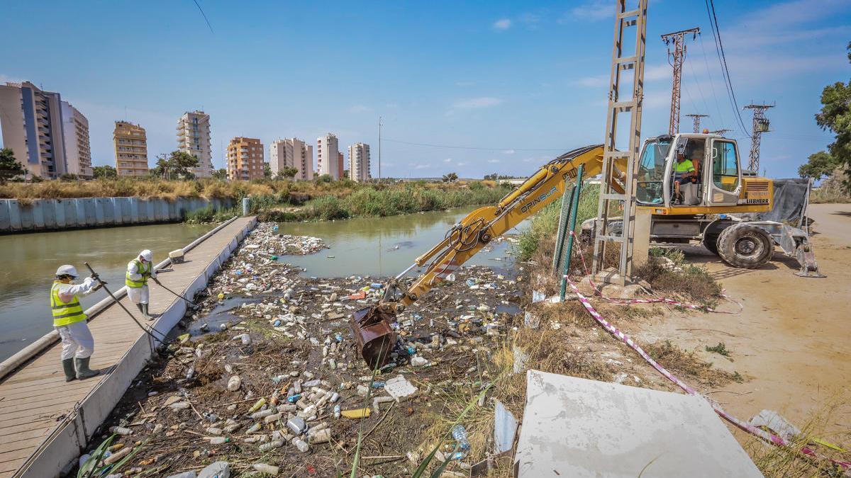 La CHS planea repercutir el coste de limpieza del Segura a las comunidades de regantes