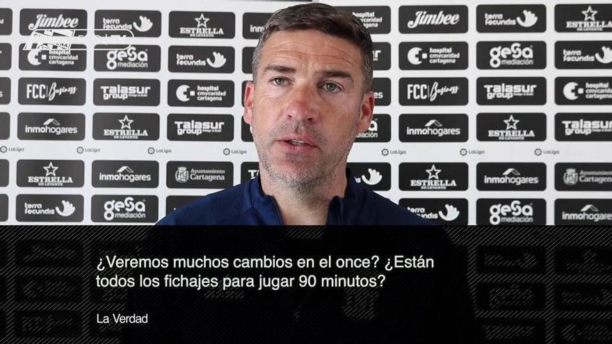 Luis Carrión quiere un FC Cartagena más agresivo