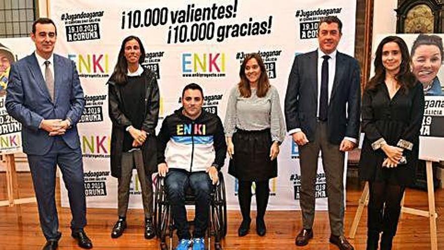 Unos 10.000 participantes se suman a la sexta Carrera ENKI en A Coruña