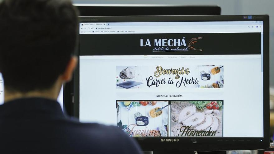 La página web de la marca 'La Mechá'.