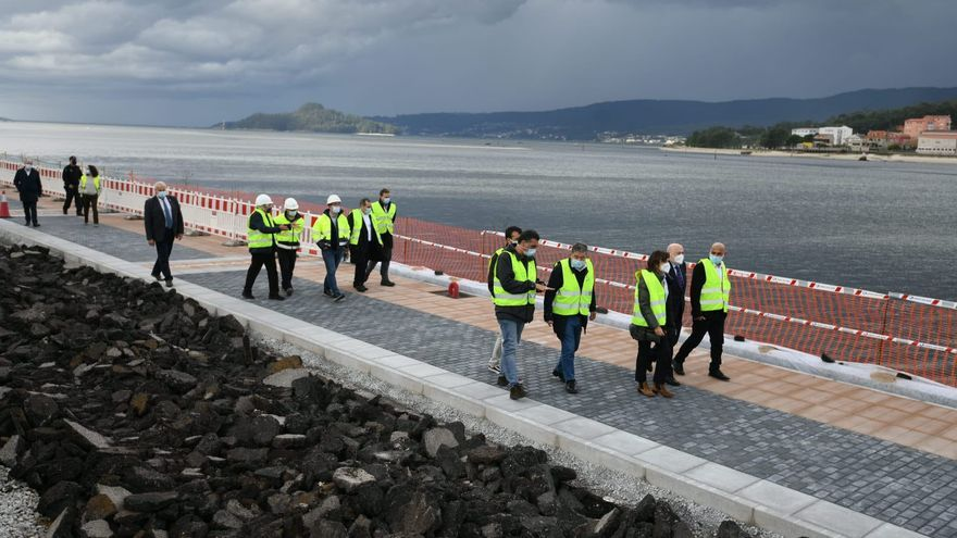El primer tramo del paseo peatonal entre Pontevedra y Marín estará listo antes de final de año