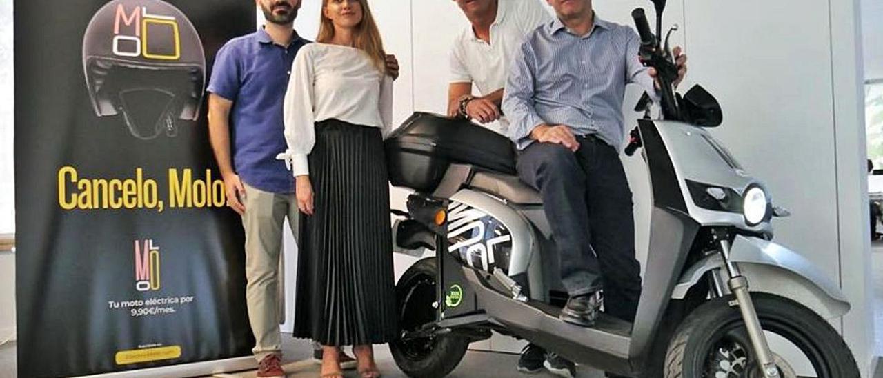 El equipo directivo de MOLO, en una imagen de la presentación del servicio en València. | LEVANTE-EMV