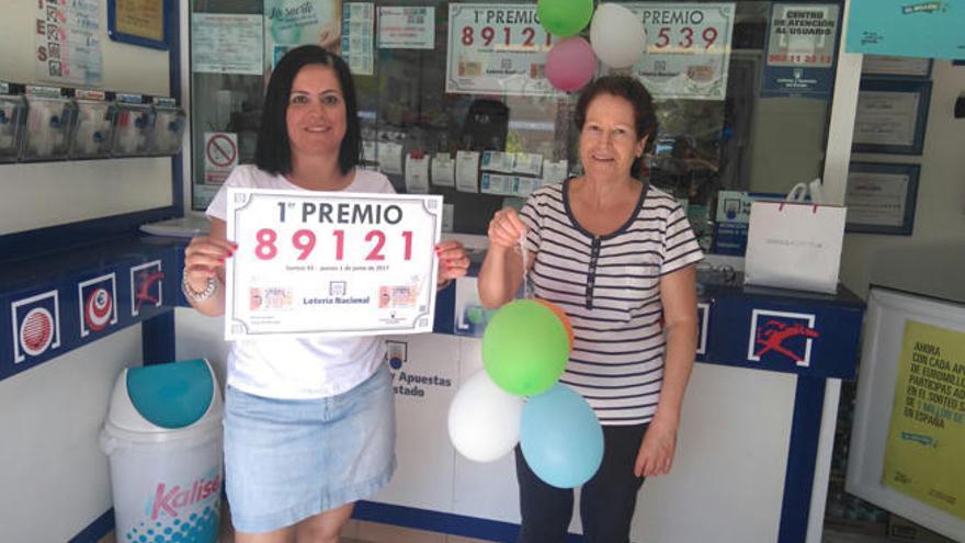 El primer premio de la Lotería cae en el Cruce de Arinaga