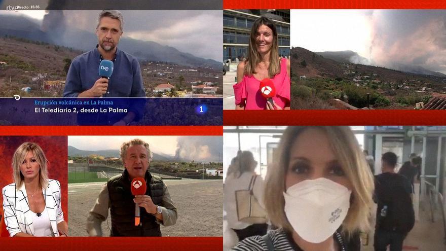 TVE, Antena 3 y Telecinco envían a sus presentadores hasta La Palma por el volcán