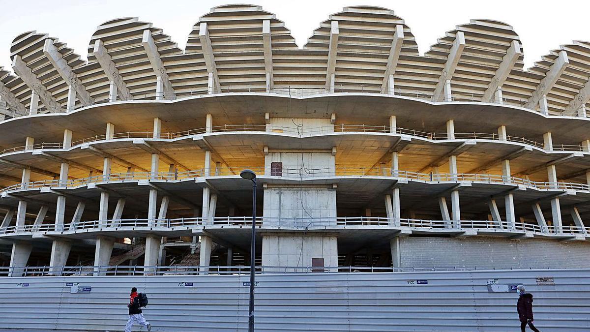 Las obras del estadio llevan doce años paradas.   M.Á.MONTESINOS