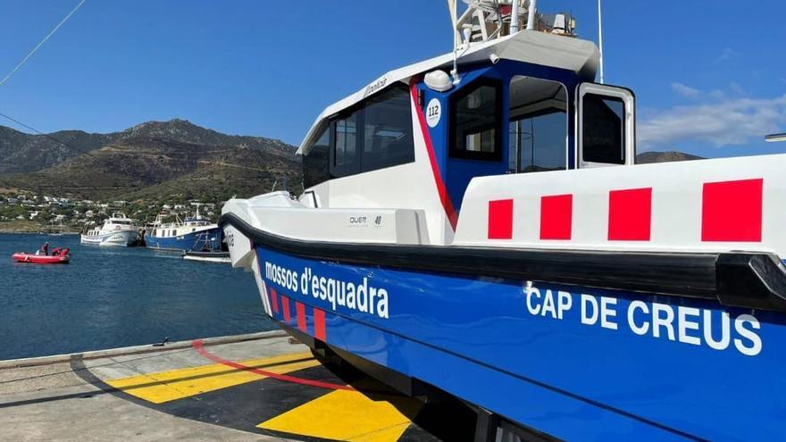 """La nova embarcació """"Cap de Creus"""" dels Mossos d'Esquadra es presenta al Saló Nàutic de Barcelona"""