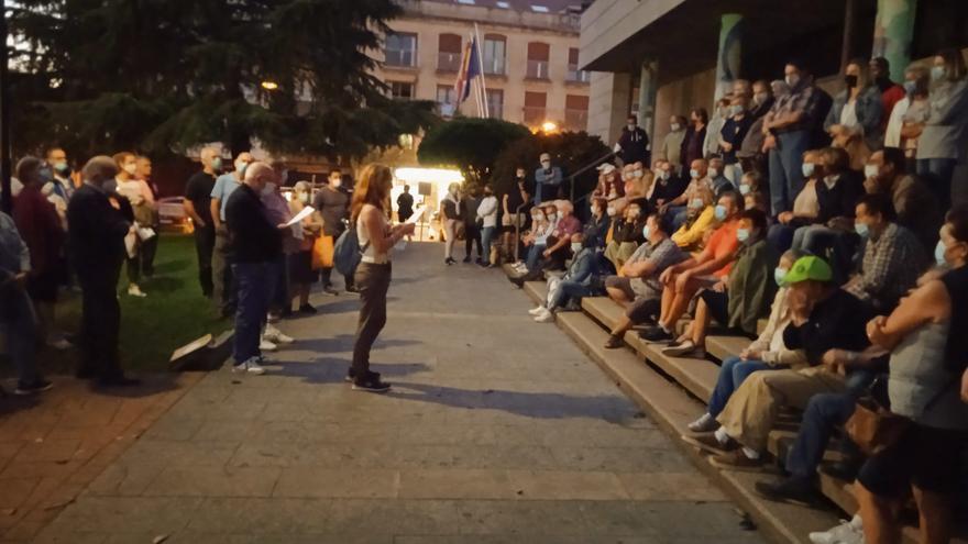 Manifestación en Moaña contra el alza de la luz