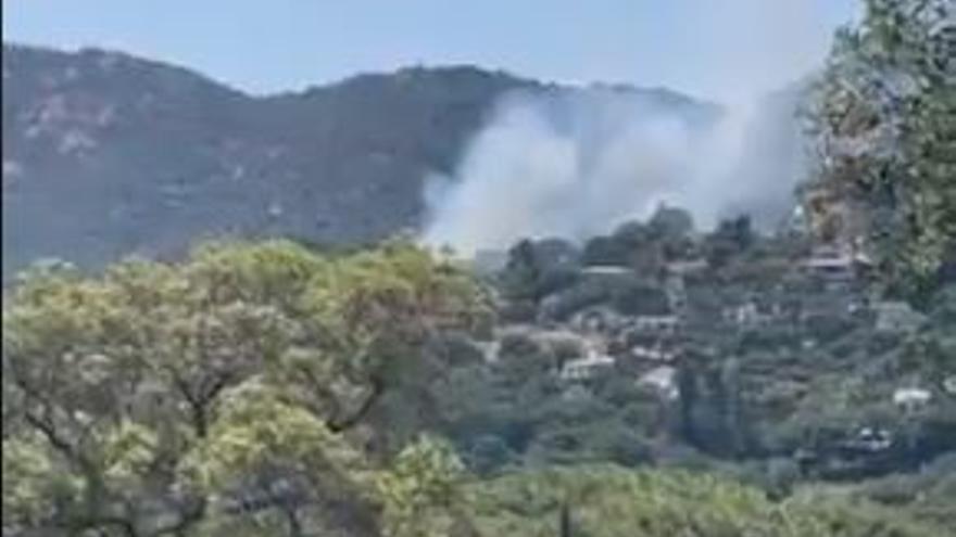 Controlat un incendi forestal a la Casa Nova de Sant Feliu de Guíxols