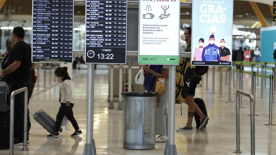 España recibe un 87,5% menos de pasajeros aéreos internacionales hasta marzo