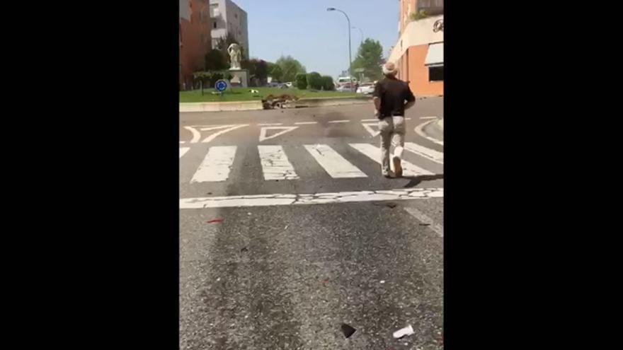 Accidente de tráfico en Mérida