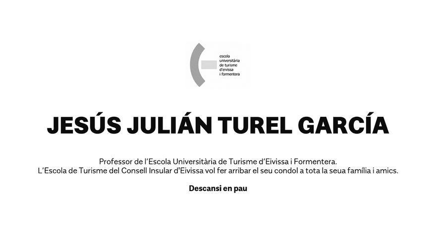 Esquela de don Jesús Julián Turel García