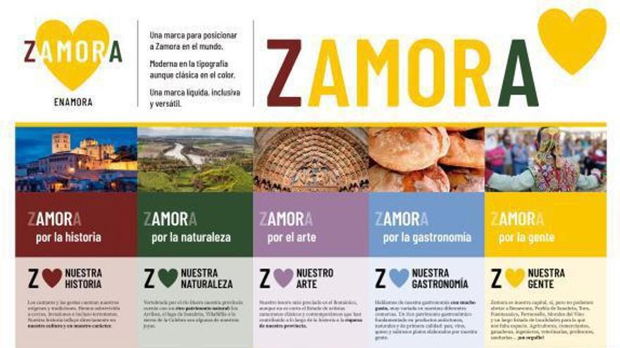 La marca 'Zamora Enamora', también de colorines