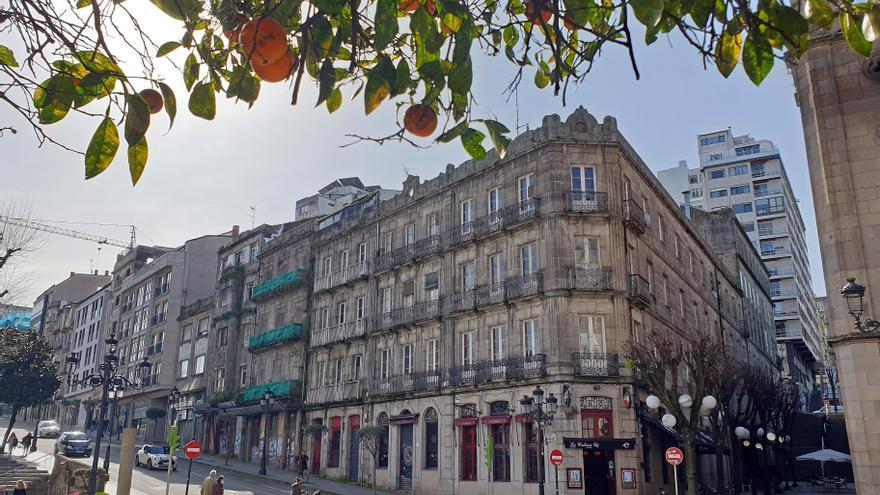 Vigo arranca el año con subastas judiciales millonarias: un céntrico edificio y un gran terreno