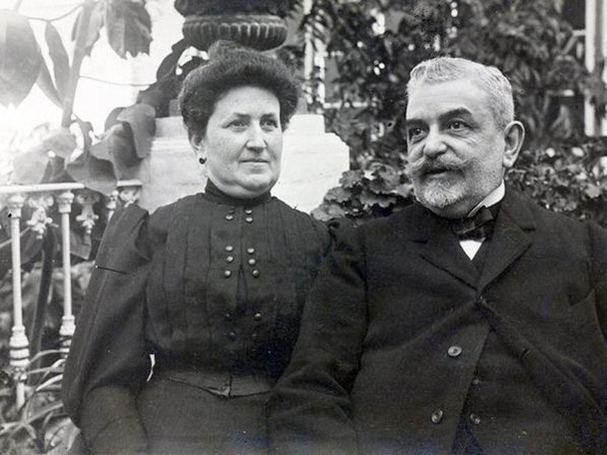 Enrique Ramos Marín y su mujer Carmen Puente Mendigorri.