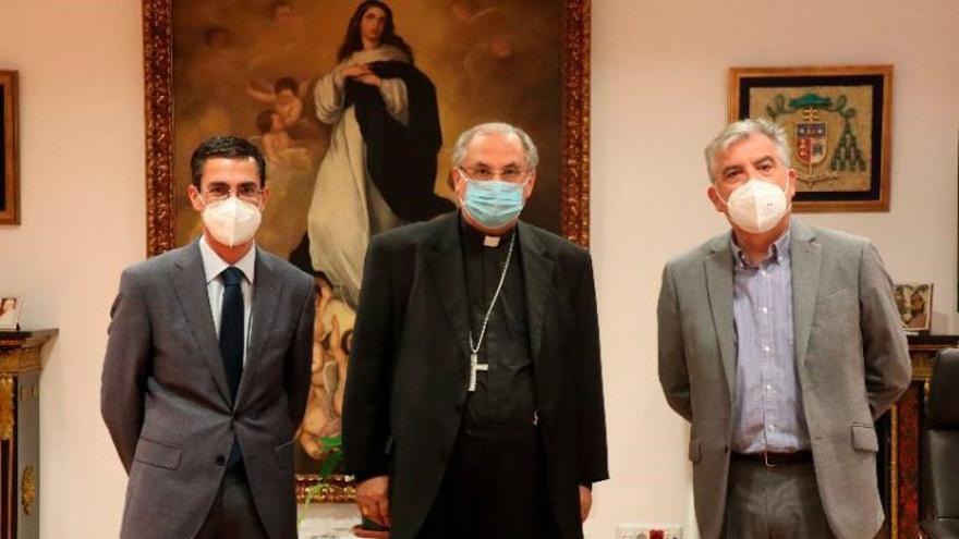 Fundación CB y Fundación Ibercaja firman un convenio con el arzobispado