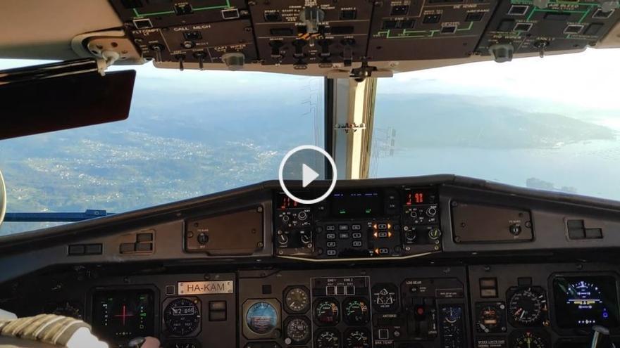 VÍDEO | Vive un aterrizaje en el aeropuerto de Vigo como si fueras el piloto