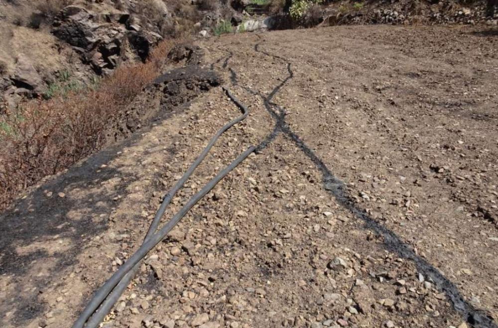 Las tuberías de polietileno, una de las causas de propagación del incendio de Gran Canaria