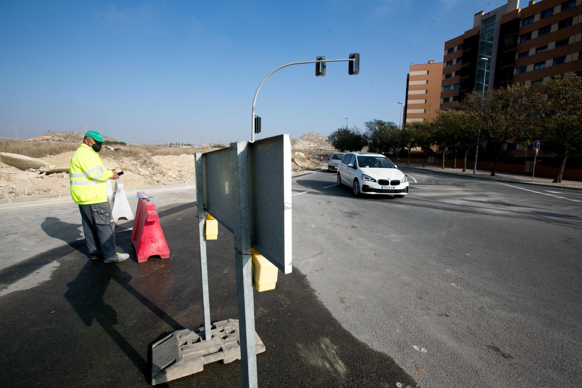 La apertura del tramo de la Vía Parque en el PAU 1 completa una nueva circunvalación en Alicante