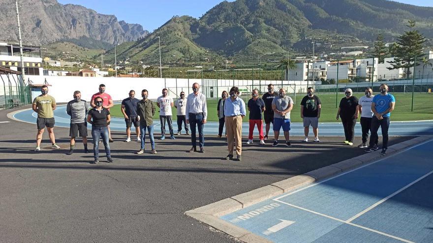 Promoción de la lucha canaria en centros educativos de La Palma