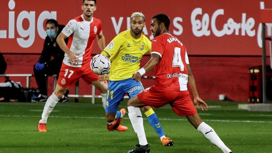 La UD Las Palmas firma otro empate ante el Girona (1-1)