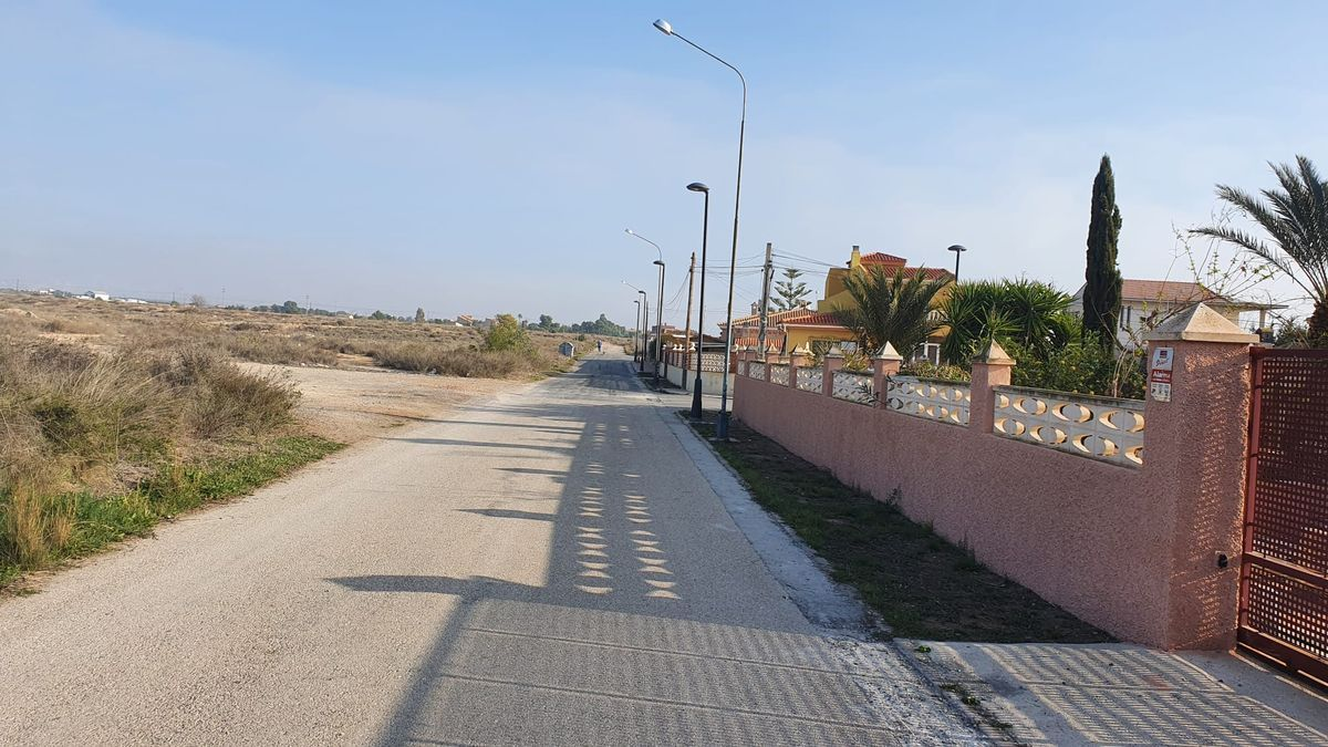 Zona de Los Girasoles donde el PP pide que se canalicen las aguas pluviales.