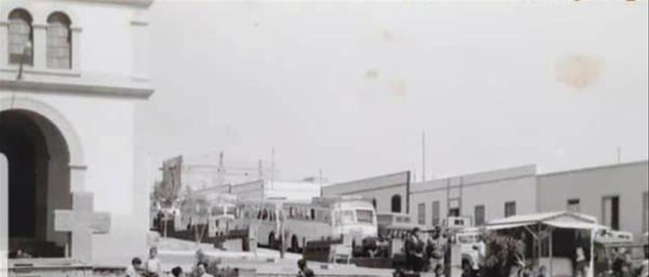 Imagen del kiosco capitalino a principios de los años 60.