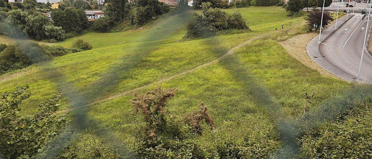 Terrenos de Gaxín en una imagen tomada desde La Carriona.