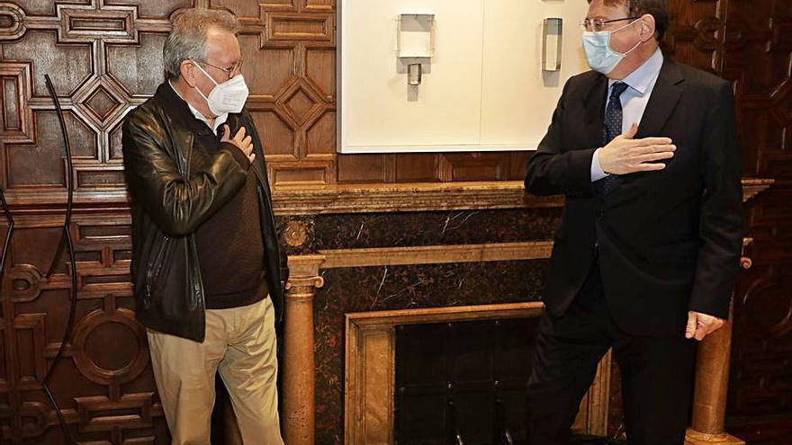 Puig recibe al  líder de CC OO-PV