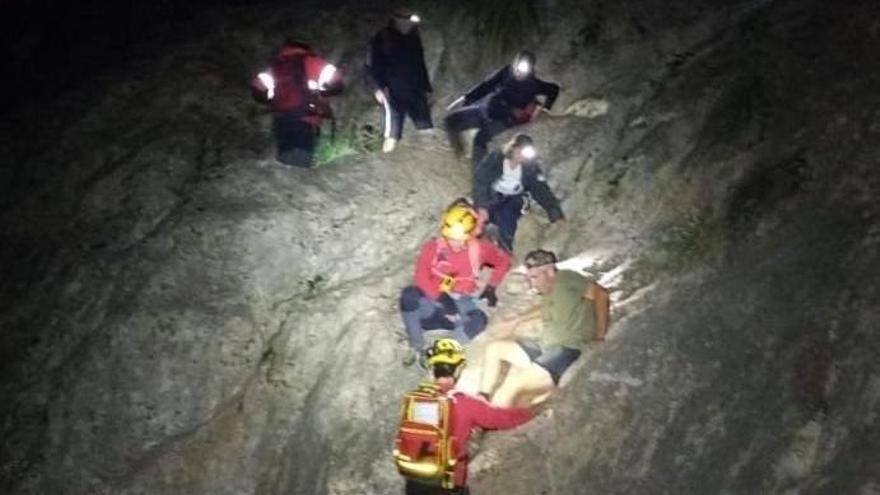 Rescatan a cuatro excursionistas que se habían perdido en el Torrent de Pareis