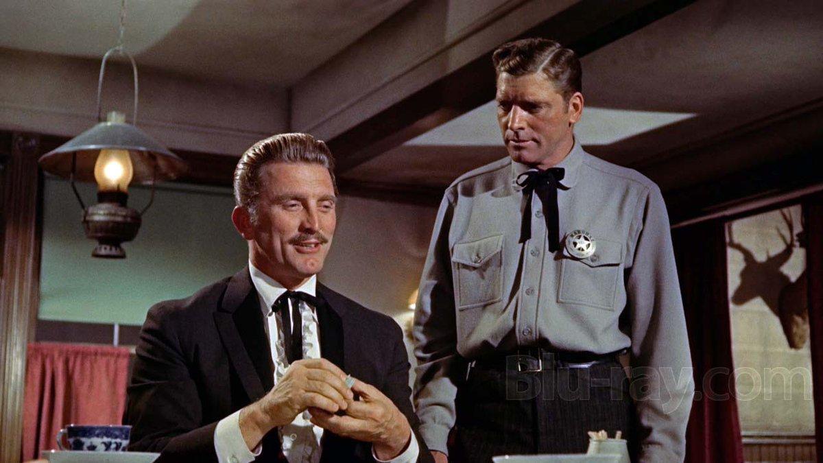 """Una escena de la película """"Duelo de titanes"""", con Kirk Douglas y Burt Lancaster."""