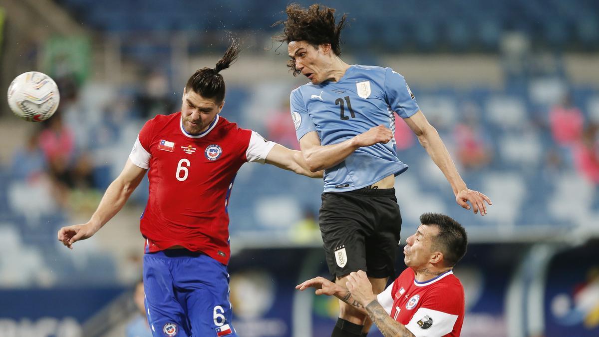 Un instante del Uruguay - Chile.