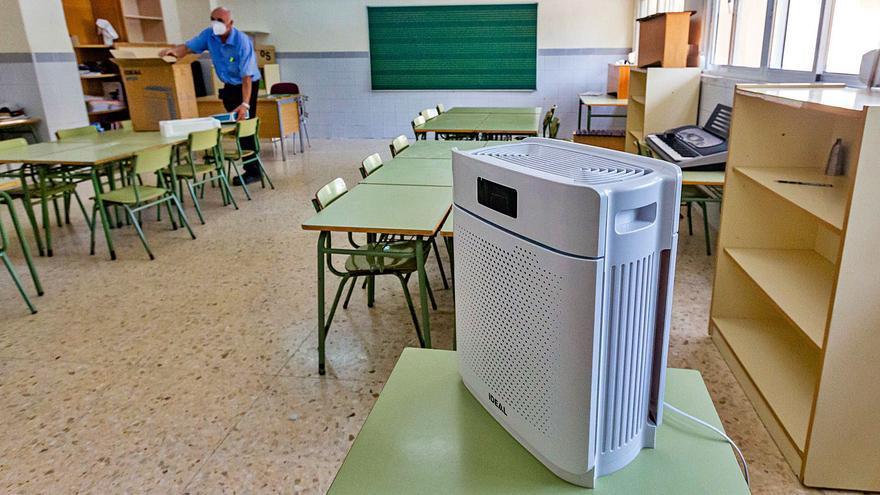 Benidorm instala purificadores de aire en las aulas de todos los colegios y guarderías