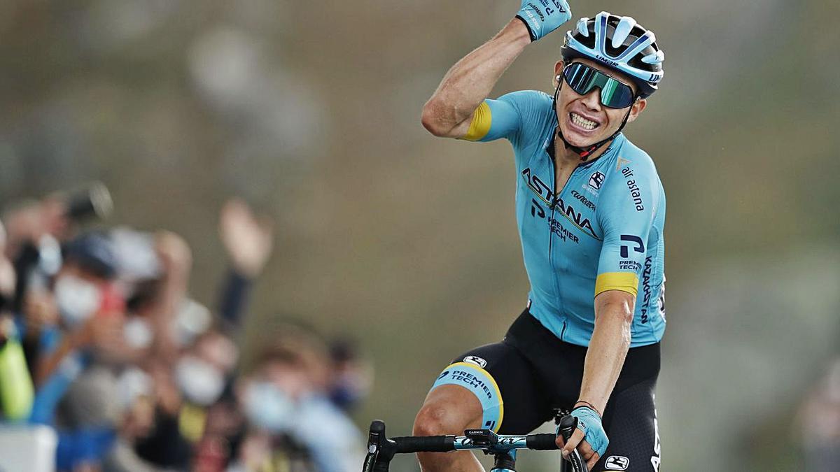 Miguel Ángel López ha militado en el equipo Astana en los últimos años. / REUTERS/Benoit Tessier
